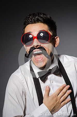 Young Man With False Moustache - Download From Over 50 Million High Quality Stock Photos, Images, Vectors. Sign up for FREE today. Image: 58145233