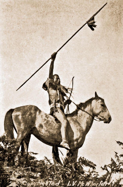 Yakima warrior on horseback