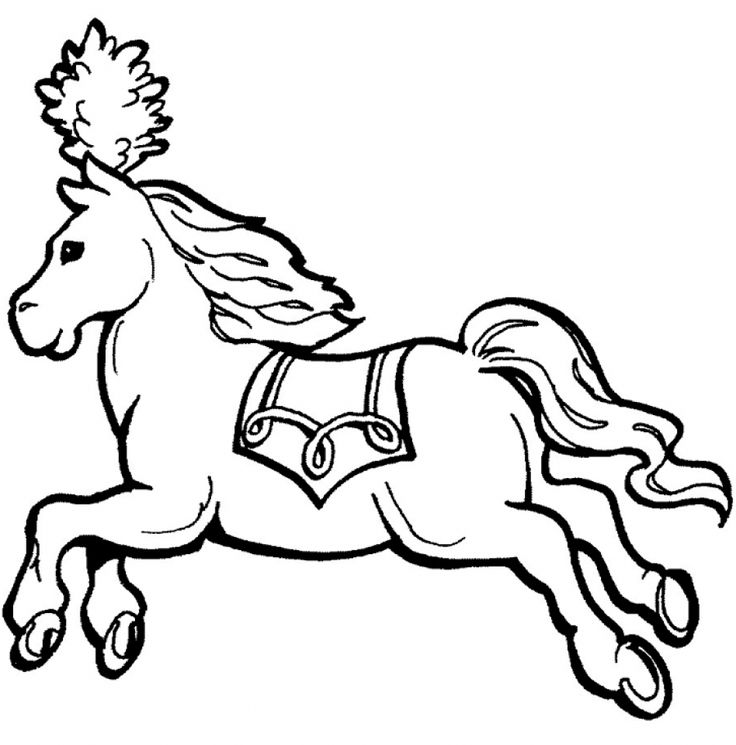 Print And Color This Free Horse Drawing