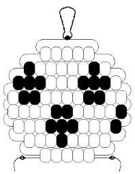 pony bead soccer ball pattern - Google Search