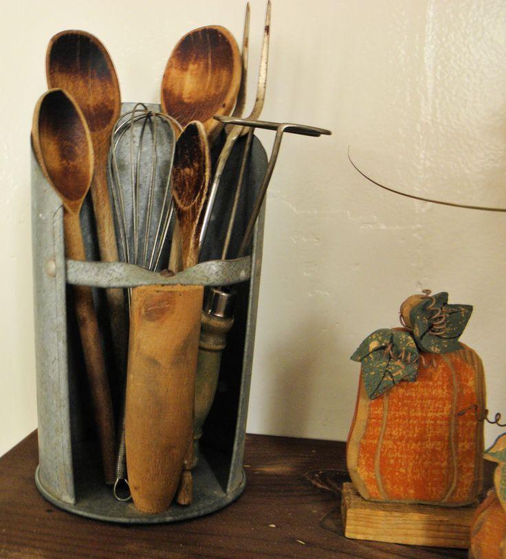 Rustic Kitchen Utensil Holder: 13 Best Scoops Images On Pinterest