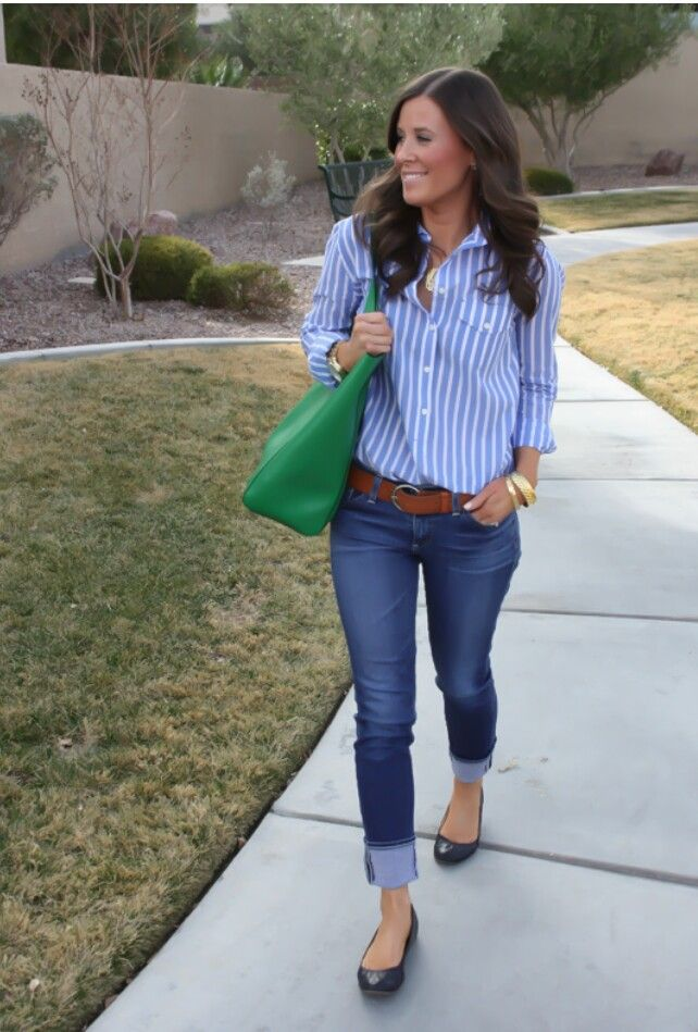 Preppy with a pop of color