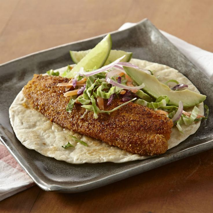 Liven up your rotation of weeknight dinners with fish tacos. It's ready quickly especially when paired with prepared deli coleslaw.