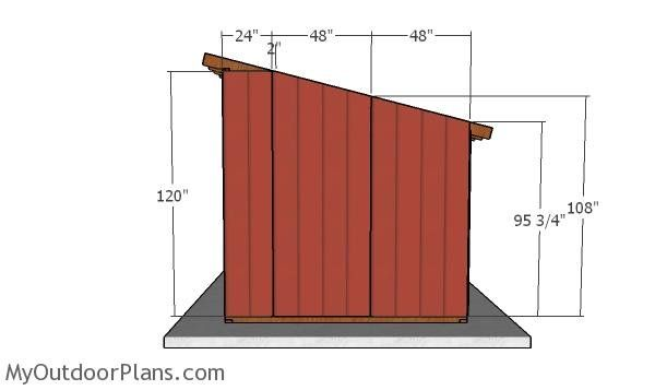 10 12 Run In Horse Shelter Roof Plans In 2020 Run In Shed Roof Plan Shed