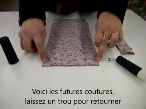 DIY Un très bon tuto vidéo couture pour créer un sac pliable - YouTube. (https://m.youtube.com/watch?v=sjqTC3GG88g)