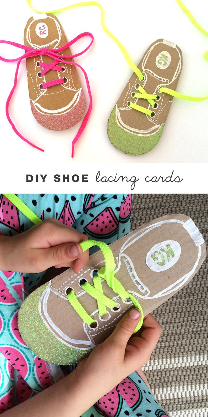 DIY shoe lacing cards