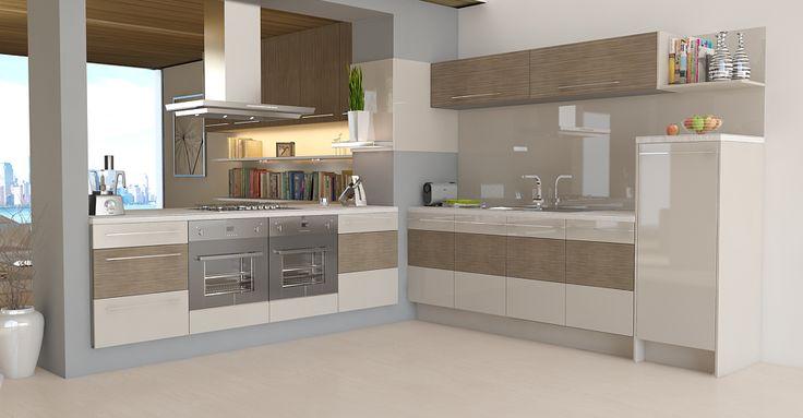 trio stone grey gloss / driftwood matt | matt kitchens kitchens