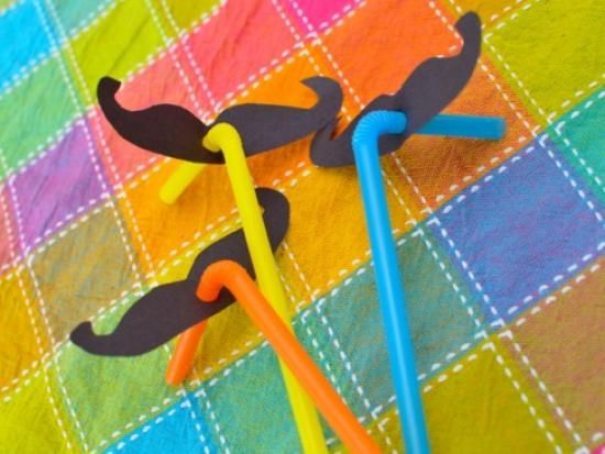 Cool project from www.kiwicrate.com/thestudio: Silly Moustache Straws -- good Mario party favor idea