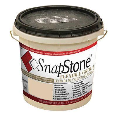 SnapStone Urethane Flexible Grout 9 Lb Pail In Almond