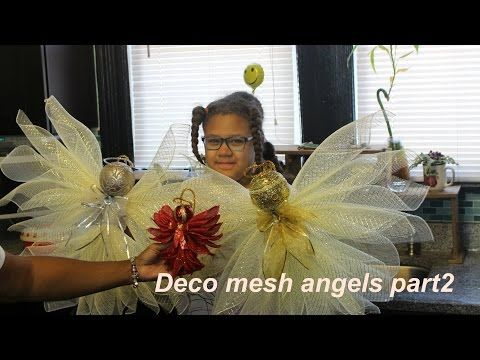 Deco Mesh Angel Tutorial Less than $2.00!! Dollar Tree DIY | Hip 'n Creative - YouTube