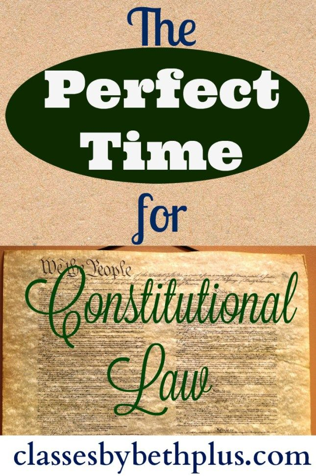 The Perfect Time for Constitutional Law