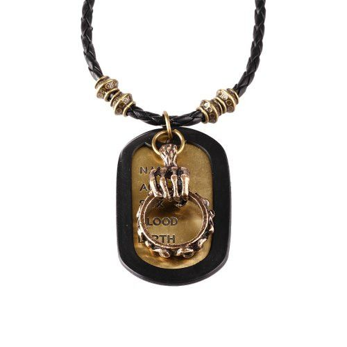 BodyJ4You® Dog Tag Necklace Mens Chain with Vintage Skull Ring Army Name Dog Tag Necklace
