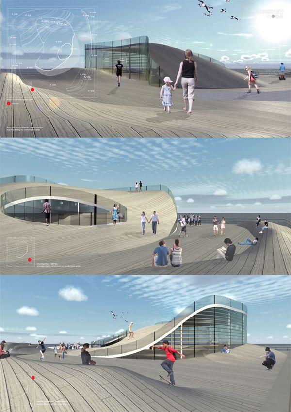 """""""Wave Urbano"""" concurso de arquitectura na Grécia por Nikolas Plastiras, via Behance"""