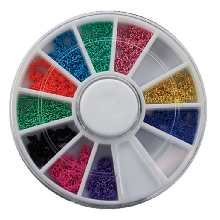Buy One Wheels DIY Metallic 12 Colors Small Chain for Tips Nail Art Decorations Jewelry Stickers Salon Express Styling Tools ND48 at JacLauren.com