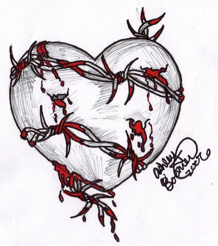 картинки как нарисовать разбитое сердце полным приводом