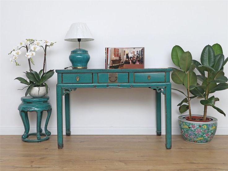 Antike Sideboard chinesische Kommode Massivholz DJ1863