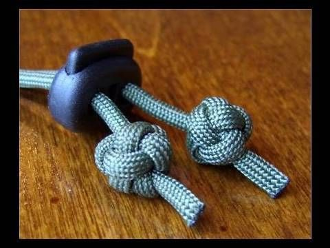 Might be my new favorite stopper knot for occasions when I have an extra 2 minutes to tie something beautiful.