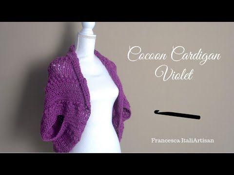 Cocoon Violet Cardigan Coprispalle Alluncinetto Facile E Veloce