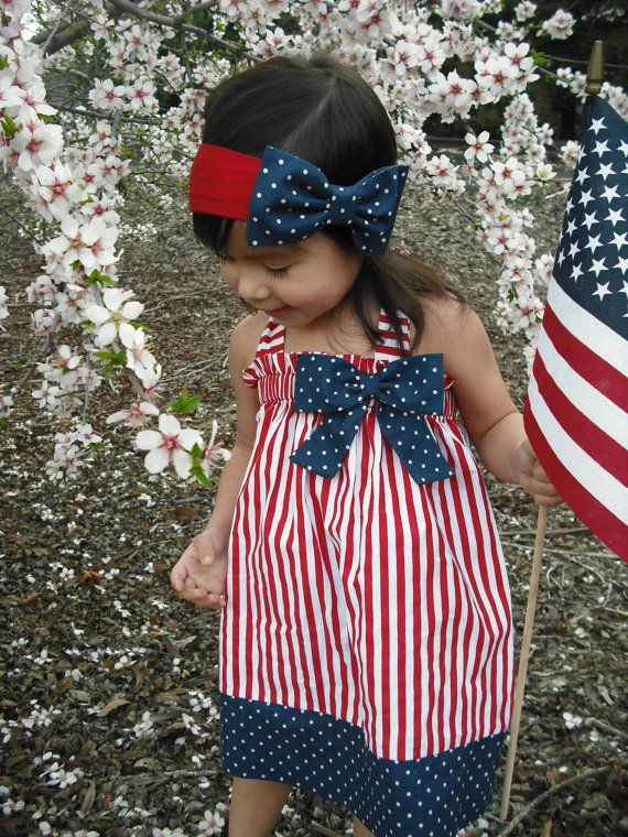 Halter Patriotic 4th of July Girl Dress by AllissonsCreations, $23.00