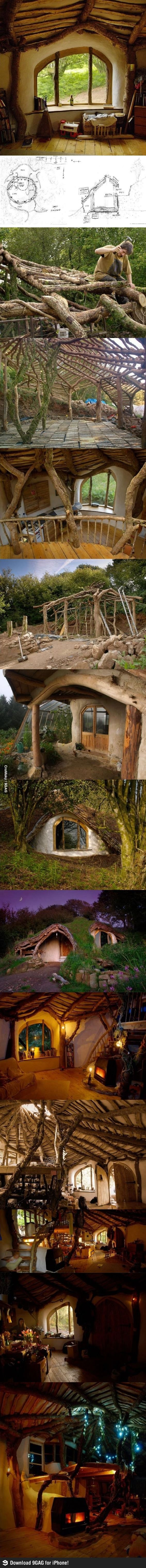 Lorie Lawhorn *******  How to build a Hobbit house....... I think you and I could build this,  on a good day. :^)