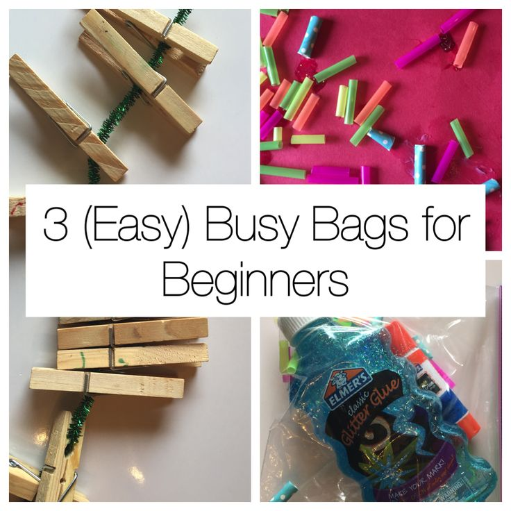 Need to be more productive? Here are 3 Super Easy Busy Bags for Beginners! Low time investment with simple supplies and instructions!