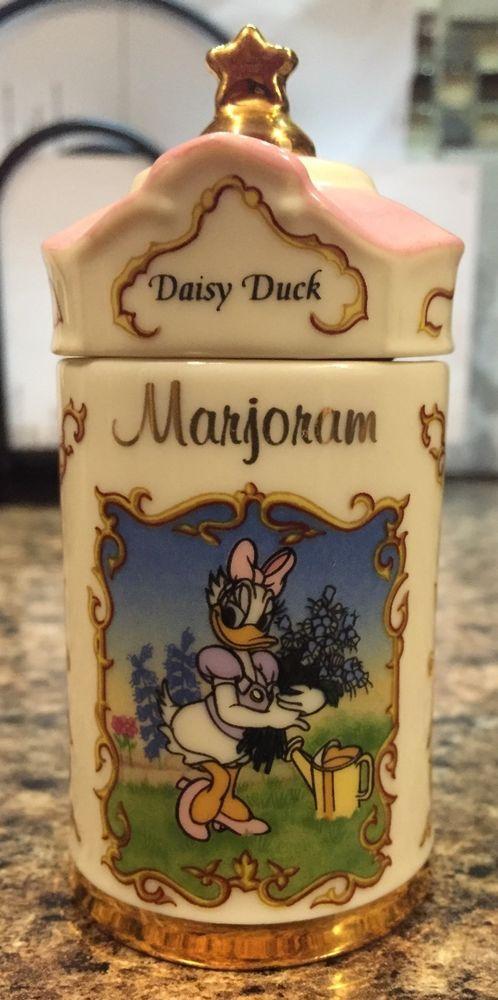 1995 Lenox Walt Disney Spice Jar Collection Daisy Duck MARJORAM