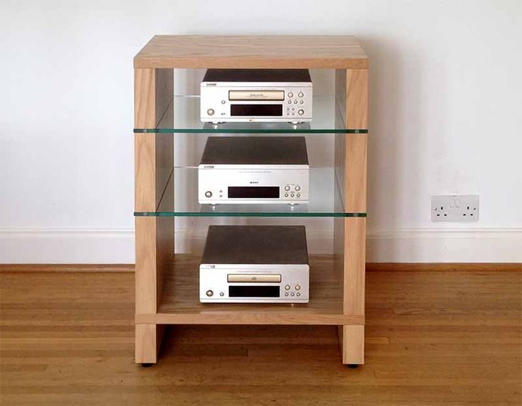 Oak Audinni WoodMan 4S HiFi Stand Four Shelf