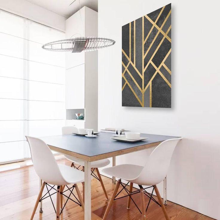 """""""Art deco geometry"""" Tableau Design Numéroté by Elisabeth Fredriksson - A partir de 49 € - www.chall.fr #scandinave"""