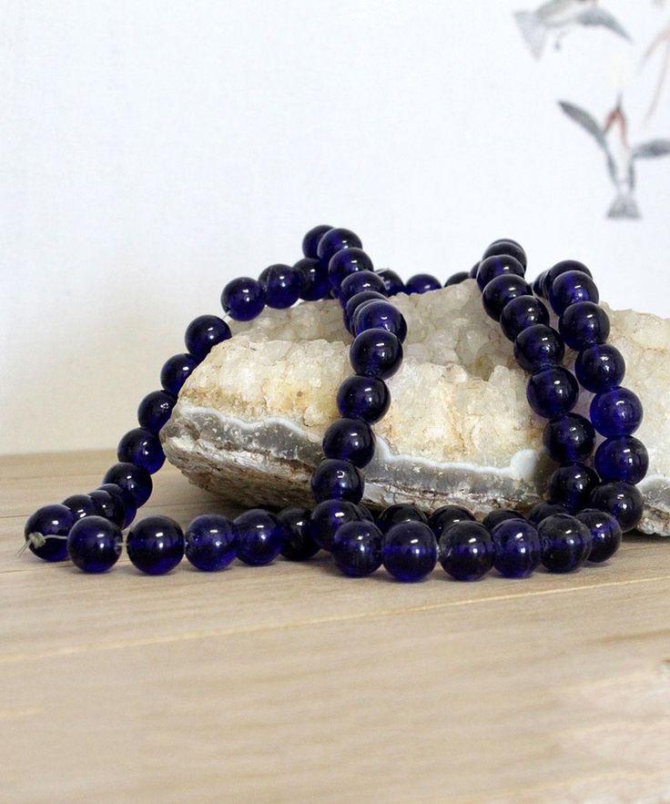 Cobalt Glass Beads - Glossy