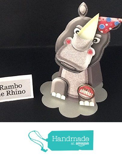 Box Pop card. Rambo the Rhino from Susans Handcrafted Cards and Gifts https://www.amazon.co.uk/dp/B01MECU35H/ref=hnd_sw_r_pi_dp_Nuo.xbEAVFCEZ #handmadeatamazon