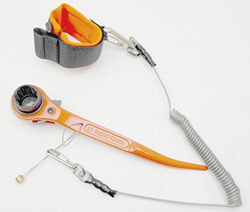 Clé à cliquet pour échafaudage Clé d'échafaudage 19x 21mm 7/40,6cm Whit incurvé 22,9cm 230mm de long Orange à revêtement de poudre…