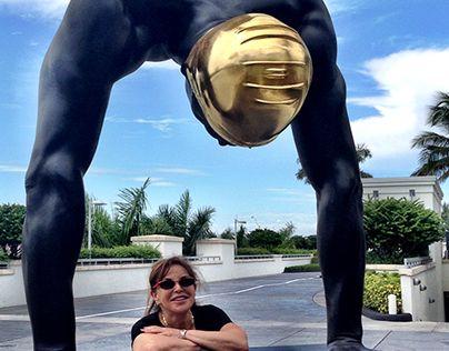Monumental 16 Foot Bronze Sculpture with 14K Gold Leaf Cap; www.carolefeuerman.com