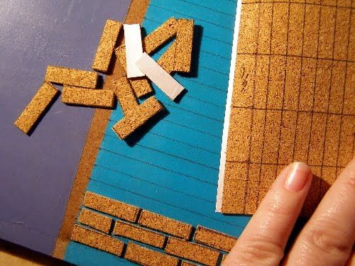 Try using cork mat for bricks