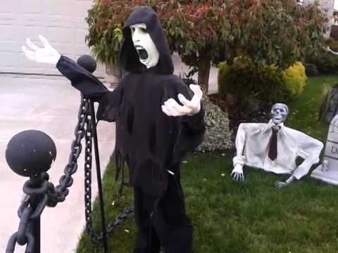 halloween yard haunt day time walk thru 2014