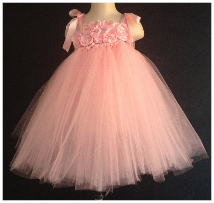 Pink tutu dress Toddler 2T 3T 4T Tutu Dress Flower girl Pagent Birthday Photos. $30.00, via Etsy.
