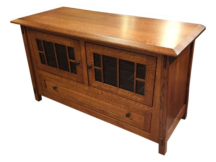 Epic Arts and Crafts MIssion Quarter Sawn Oak TV Stand