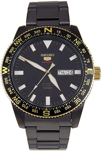 Montre Seiko 5 Sport - Homme - SRP670K1 - Cadran et Bracelet en Acier inoxdyable Noir - Jour et Date