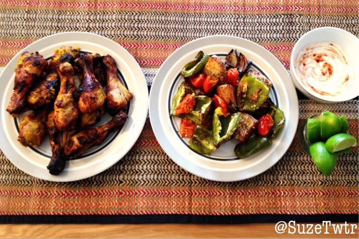 Tandoori chicken  roasted vegetables - a Sunday roast with a twist.