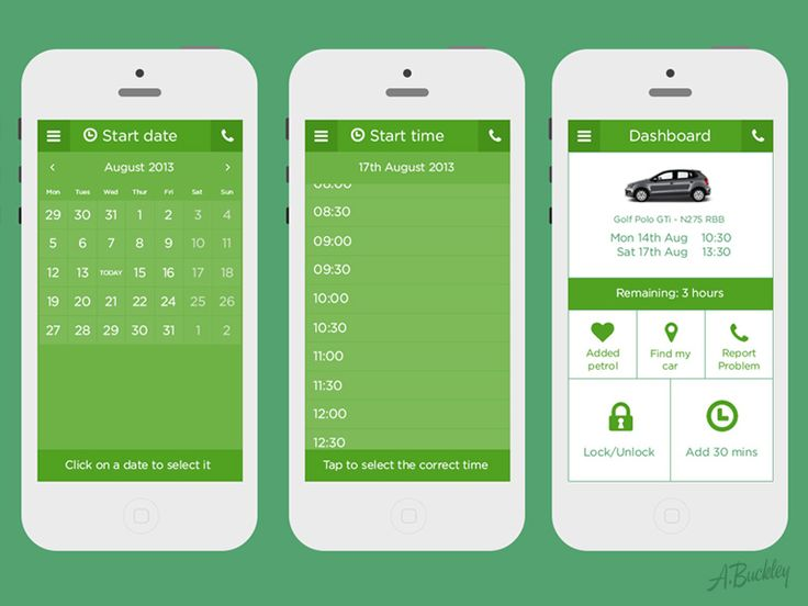 Dribbble - Zipcar App Redesigned by Aaron Buckley