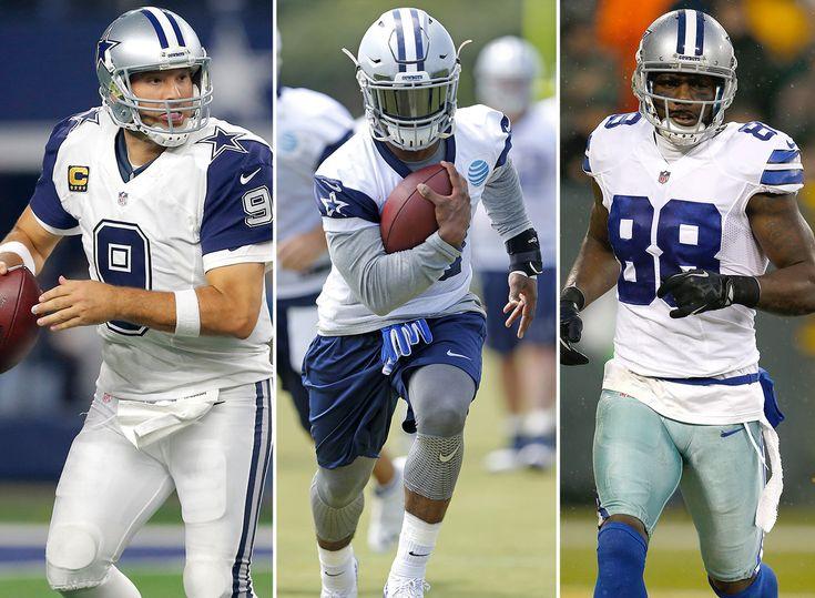 1) Dallas Cowboys: Tony Romo (No. 9 QB), Ezekiel Elliott (4) & Dez Bryant (4)