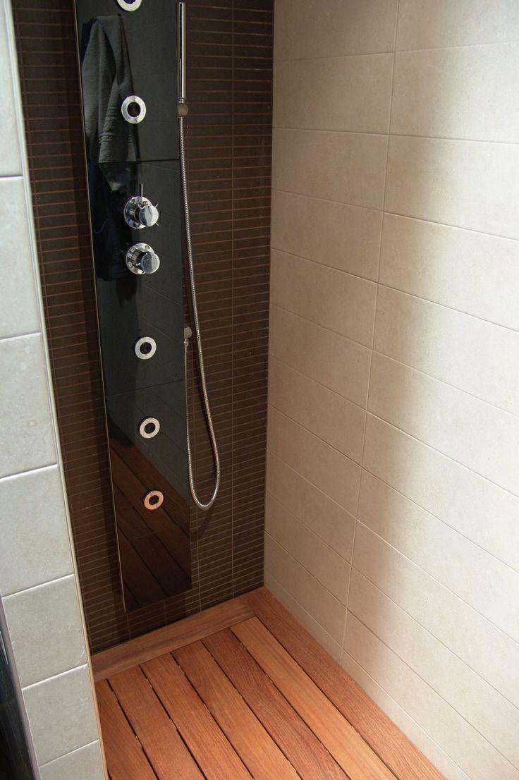 Plato de ducha realizado con madera de ipe tarimas de for Tarima de ducha