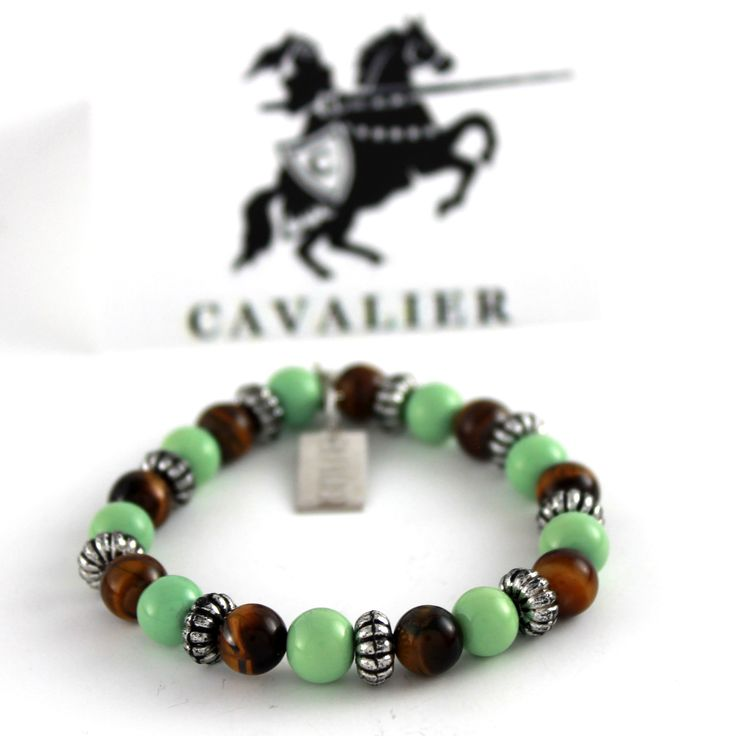 Cavalier Tiger's Eye, Green and Metal www.mycavalier.co