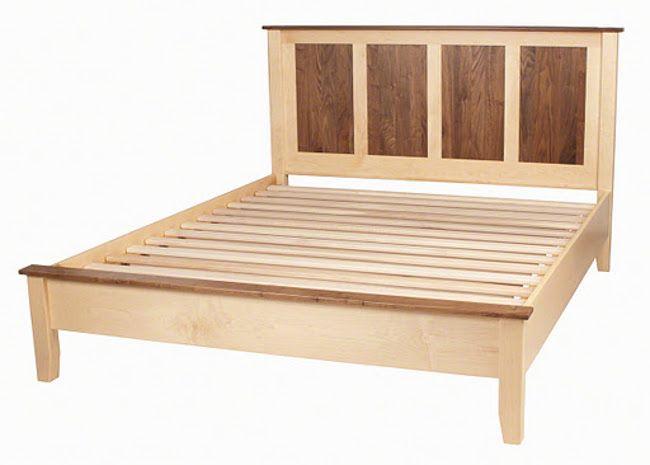 wooden bed frames   Shaker solid wood platform bed frame