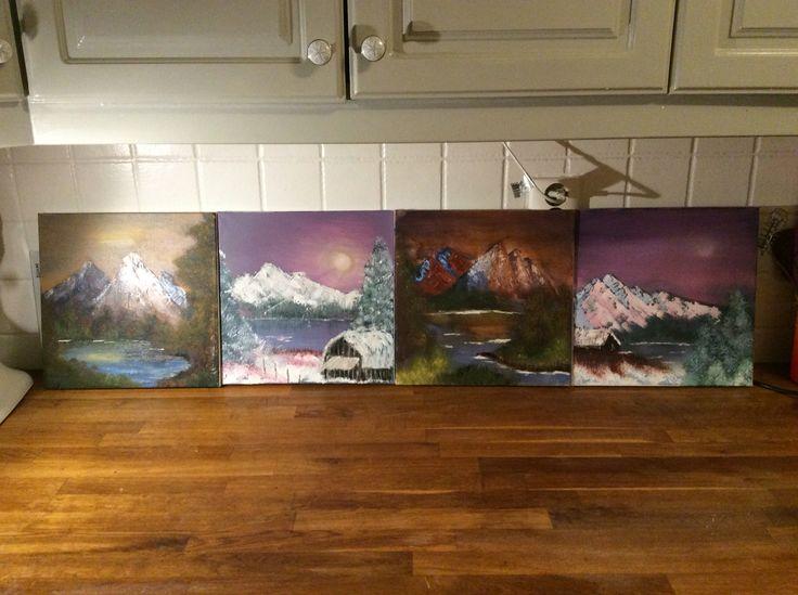 Lars og har malt bilder i dag, vi har hatt det så morsomt, og de ble utrolig fine :)
