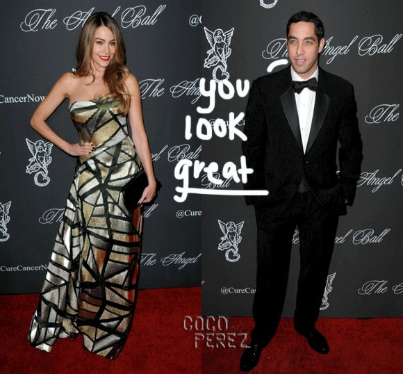 Sofia Vergara looked fab as she ran into her ex-fiancè Nick Loeb at the Angel Ball!