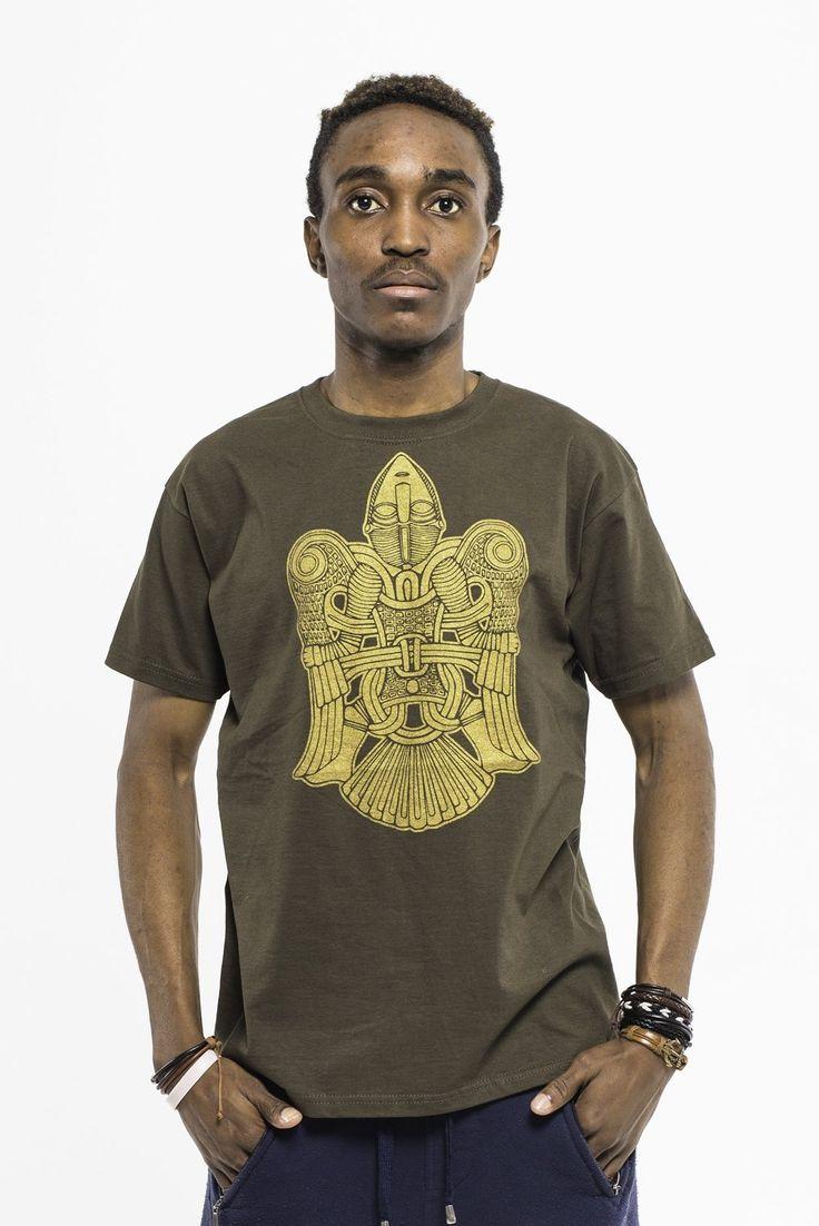 Camiseta marrón V., €15.99.  Ropa cristiana misionera