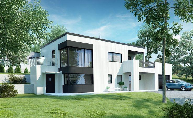 Kataloghus U- 460 moderne bolig med leilighet. To plan med garasje!