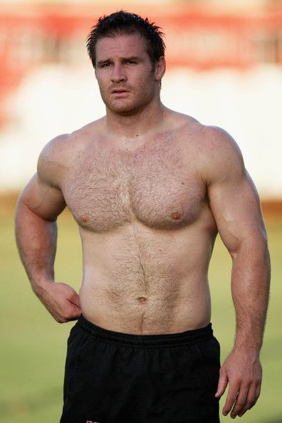 IF...and this is a strong IF...I had a defineable type...it's THIS guy!!! Presenting one of the hottest, perfect male specimens on this or ANY other planet: Craig Burden, South African rugby hooker (lol) for the Sharks Super Rugby in Durban, South Africa. AND here's the checklist of why - half hot/half cavemen facial features, great nose, eyes close together, no lips, strong chin, great mix of muscle and fat, MOLES (!), hairy, pink pale skin, dark hair, great thumbs, big hands. Oh...Daddy…