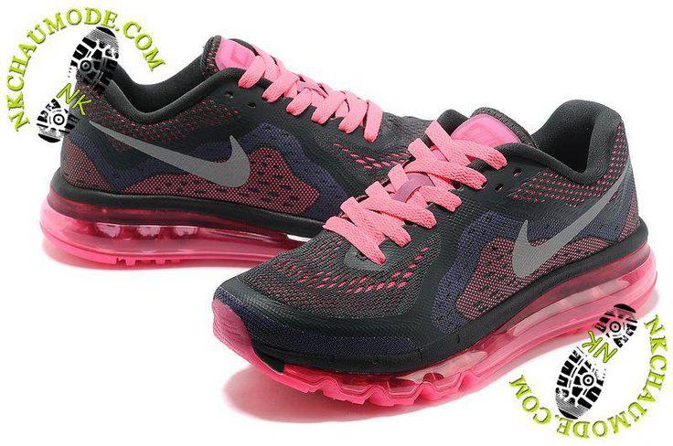 chaussures running nike soldes Air Max 2013 Femme Noir/Rose