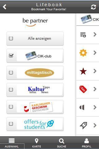 """""""be partner"""" bietet umfangreiche Informationen (Shopping, Gastronomie, Kultur, Freizeit usw.) noch überwiegend aus dem Raum Karlsruhe und Südliche Pfalz / Weinstraße . Wer nicht aus dem Raum Karlsruhe ist, kann unter """"Profil"""" -> """"Filter: Rubriken und Entfernungen"""" -> """"Mein Standort: Marktplatz Karlsruhe oder Deutsches Weintor"""" wählen, um die App zu testen oder vielleicht selbst Partner(-unternehmen) zu werden.<p>+++ Informationsquellen in die persönliche Favoritenliste übernehmen…"""